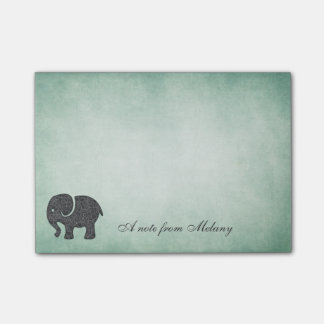 Elegant chic lady elephant vintage post-it notes
