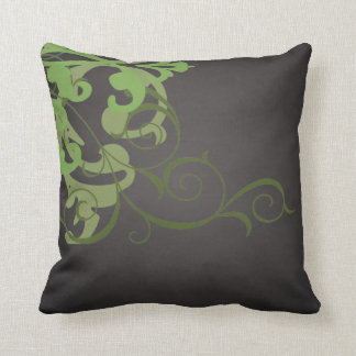 Elegant Chic Lime Scroll Black Mojo Pillow Throw Cushions