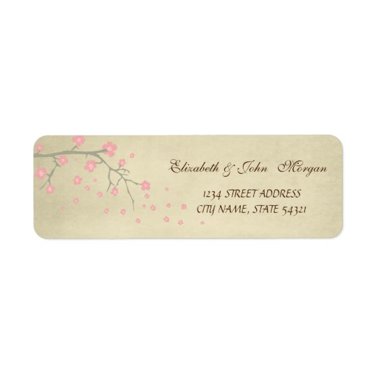 Elegant  Chic Luxury - Cherry Tree Address Label