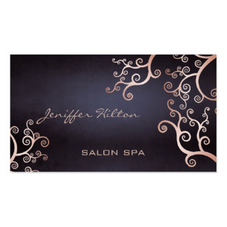 Elegant chic luxury contemporary abstract floral business card template