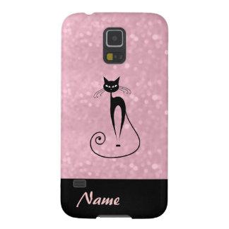 Elegant  chic luxury contemporary glittery cat case for galaxy s5