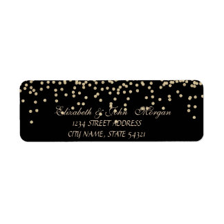 Elegant  Chic Luxury -Diamonds Address Label