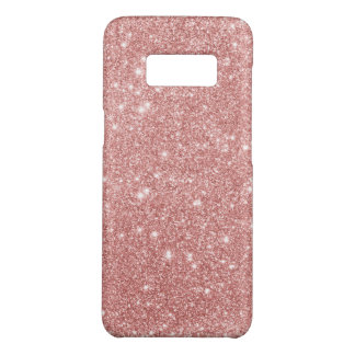 Elegant Chic Luxury Faux Glitter Rose Gold Case-Mate Samsung Galaxy S8 Case