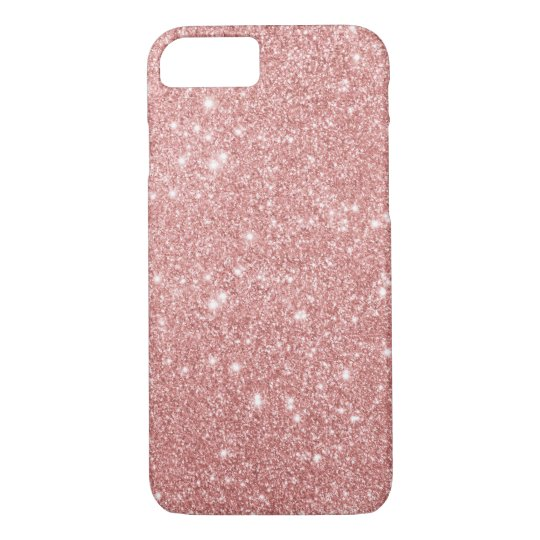 Elegant Chic Luxury Faux Glitter Rose Gold iPhone