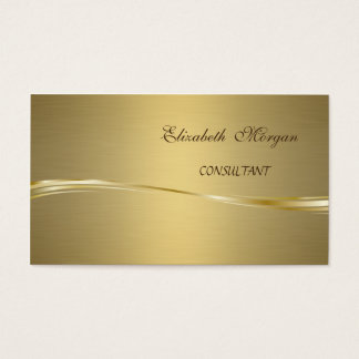 Elegant Chic Luxury Faux Gold Business Card