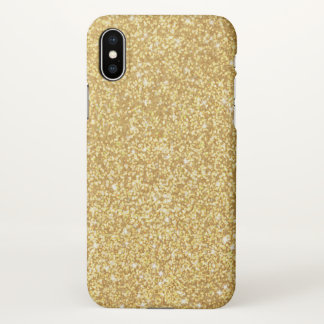 Elegant Chic Luxury Faux Gold Glitter iPhone X Case