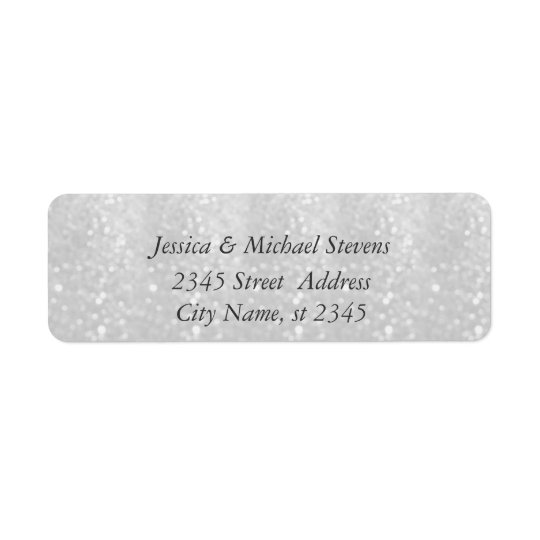 Elegant chic luxury glittery look return address label