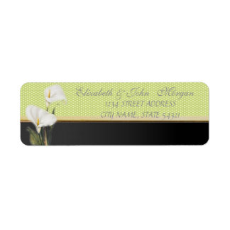 Elegant  Chic Luxury ,Polka Dots,Calla Return Address Label