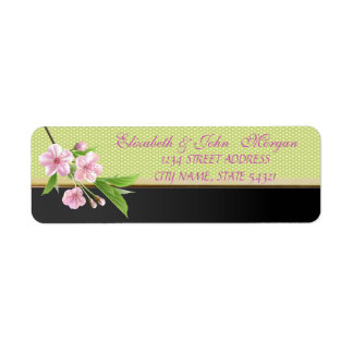 Elegant  Chic Luxury ,Polka Dots,Cherry Tree Return Address Label