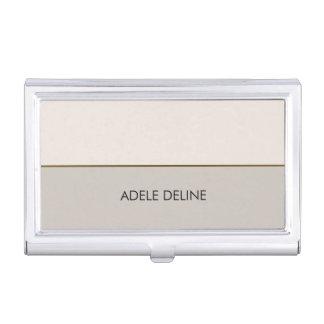 Elegant Chic Pale Pink GreyCopper Line Case For Business Cards