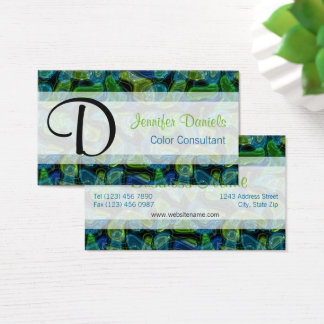 Elegant Chic Retro Modern Abstract Shapes Pattern Business Card