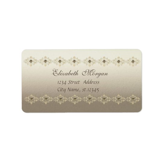Elegant Chic  Sophisticated Address Label