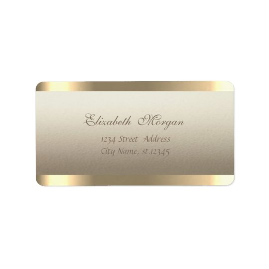 Elegant Chic  Sophisticated,Striped Address Label