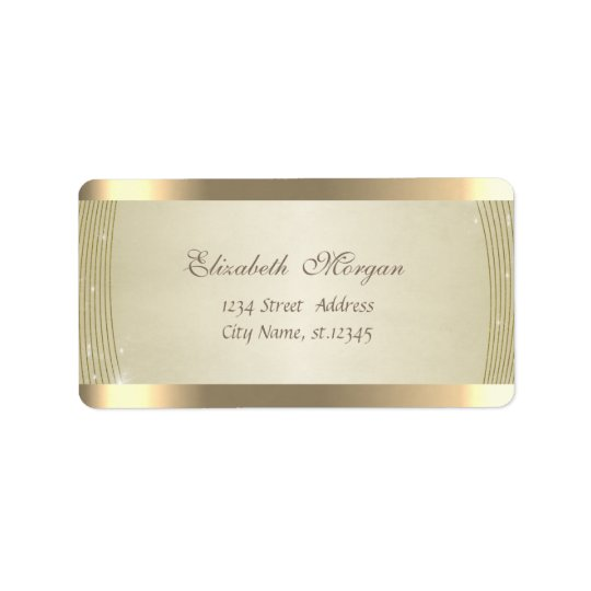 Elegant Chic  Sophisticated,Striped,Shiny Address Label