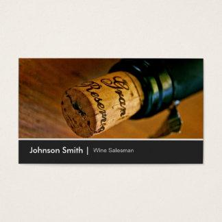Elegant Chic Wine Bottle Salesman Salesperson Business Card