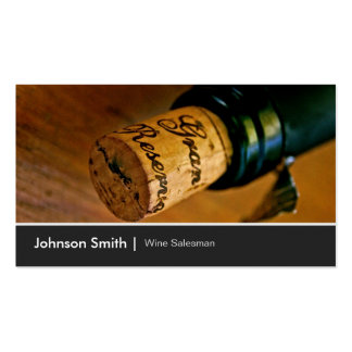 Elegant Chic Wine Bottle Salesman Salesperson Pack Of Standard Business Cards