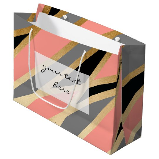 elegant chick abstract gold black grey coral pink