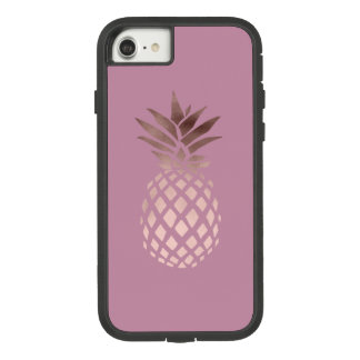 elegant chick clear rose gold tropical pineapple Case-Mate tough extreme iPhone 8/7 case