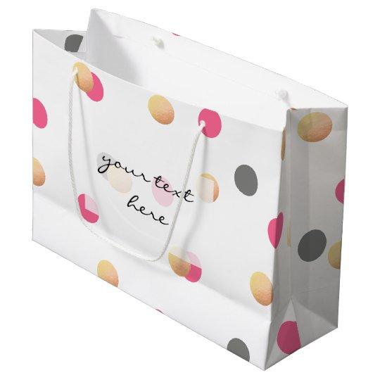 elegant chick faux gold grey pink confetti dots
