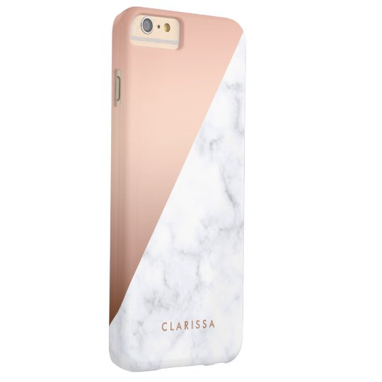 elegant chick geometric white marble rose gold barely