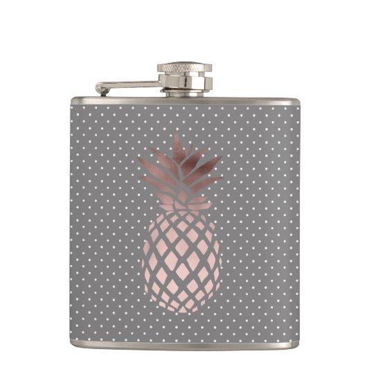 elegant chick rose gold pineapple polka dots hip