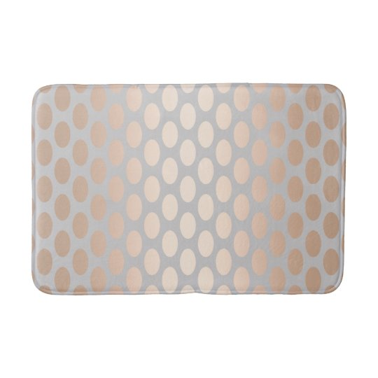 Elegant Chick Rose Gold Polka Dots Pattern Grey