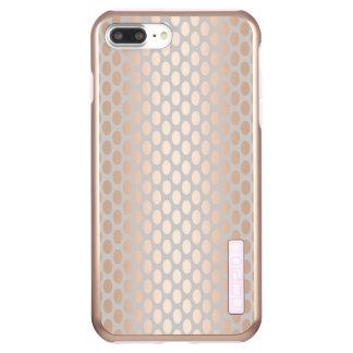 Elegant Chick Rose Gold Polka Dots Pattern Grey Incipio DualPro Shine iPhone 8 Plus/7 Plus Case
