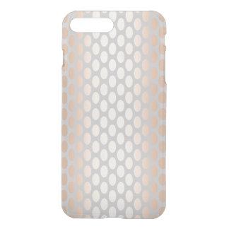 Elegant Chick Rose Gold Polka Dots Pattern Grey iPhone 8 Plus/7 Plus Case