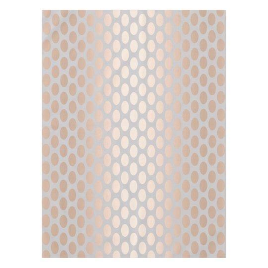 Elegant Chick Rose Gold Polka Dots Pattern Grey