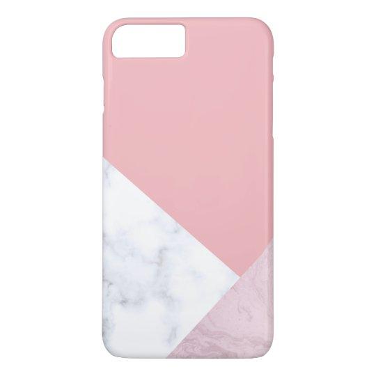 elegant chick white pastel pink marble geometric iPhone