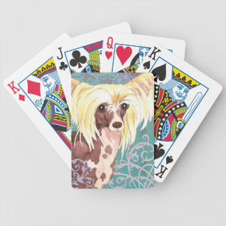 Elegant Chinese Crested Bicycle Playing Cards