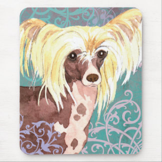 Elegant Chinese Crested Mouse Pad