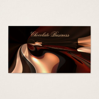 Elegant Chocolate Swirl Cream Brown Profile Business Card