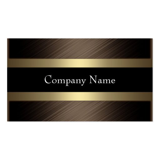 Elegant Chocolate with Black Coffee Business Cards