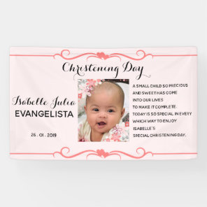 Elegant CHRISTENING DAY Event Party Banner