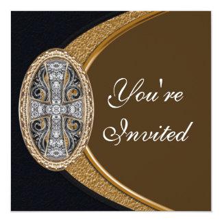 Elegant Christian Cross Party Invitation