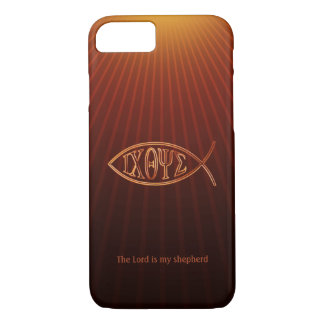 Elegant Christian Fish Symbol Ichthys iPhone 8/7 Case