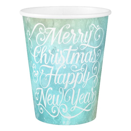 Elegant Christmas and New Year | Paper Cups