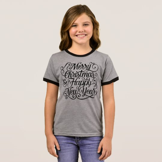 Elegant Christmas and New Year   Ringer Shirt