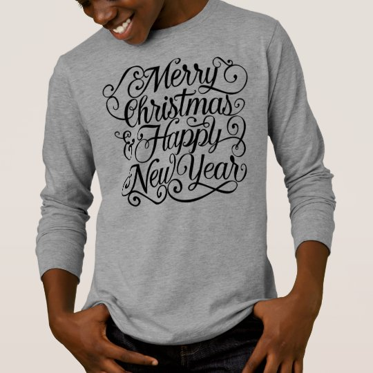 Elegant Christmas and New Year | Sleeve Shirt