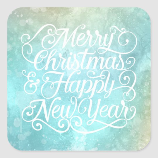 Elegant Christmas and New Year | Sticker Seal