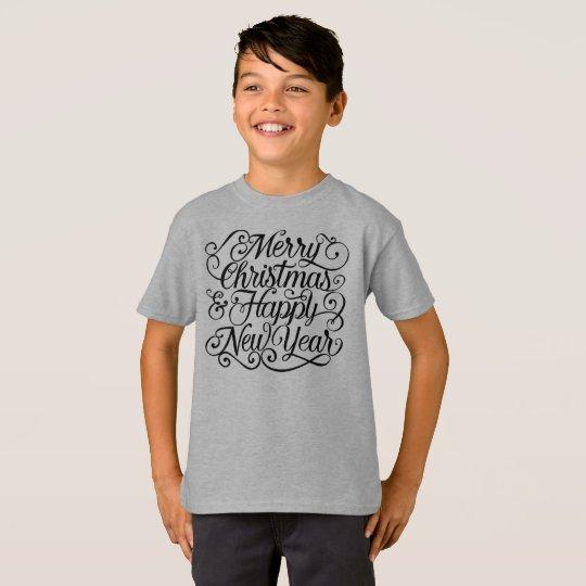 Elegant Christmas and New Year Tagless Shirt