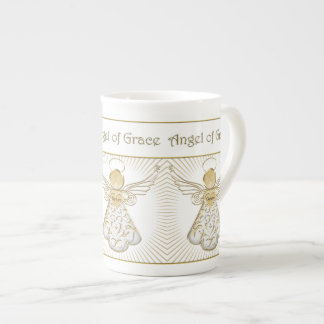 Elegant Christmas Angel of Grace Filigree Pattern Tea Cup