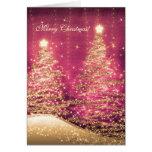 Elegant Christmas Cards Sparkling Trees Rose