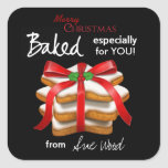 Elegant Christmas Cookie Gift Tag Stickers