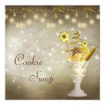 Elegant Christmas Cookie Swap 13 Cm X 13 Cm Square Invitation Card