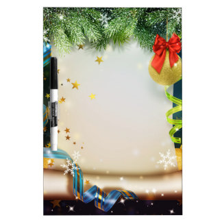 Elegant Christmas decoration Dry Erase Board