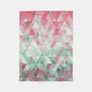 Elegant Christmas Diamond Prism Fleece Blanket