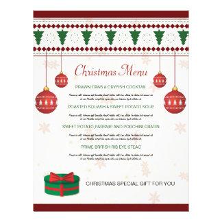 Elegant Christmas Dinner Menu Card