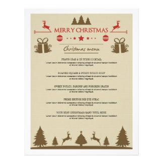 Elegant Christmas Dinner Menus Card